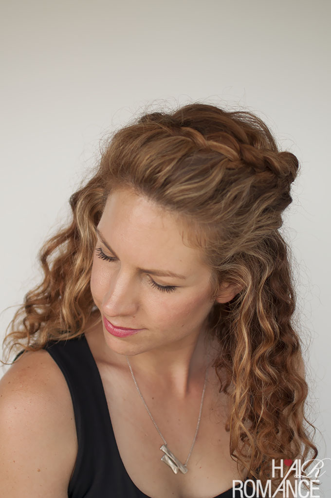 half up curly hair styles curly hair tutorial the half up braid hairstyle hair 4211
