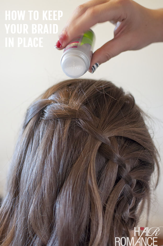 Hair Romance - Vertical waterfall braid hairstyle tutorial - How to keep your braid in place