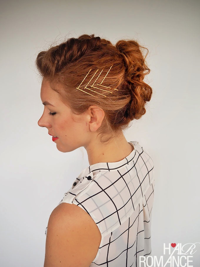 Gingertwin Mohawk French Braid Updo Tutorial Hair Romance