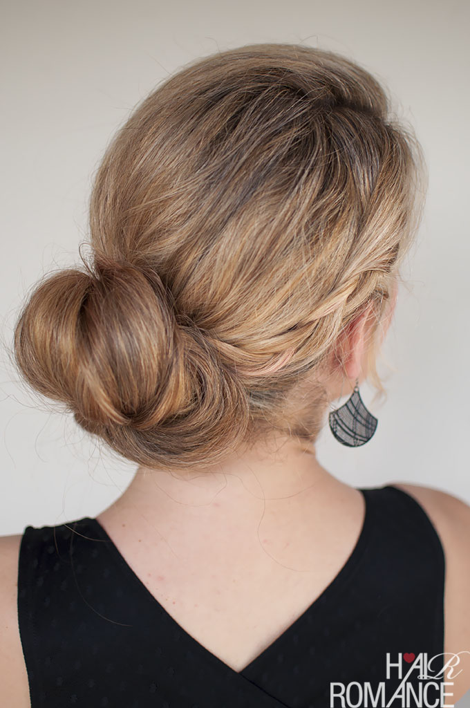Hair Romance - how to wear your hair to a wedding - double braid bun hairstyle tutorial