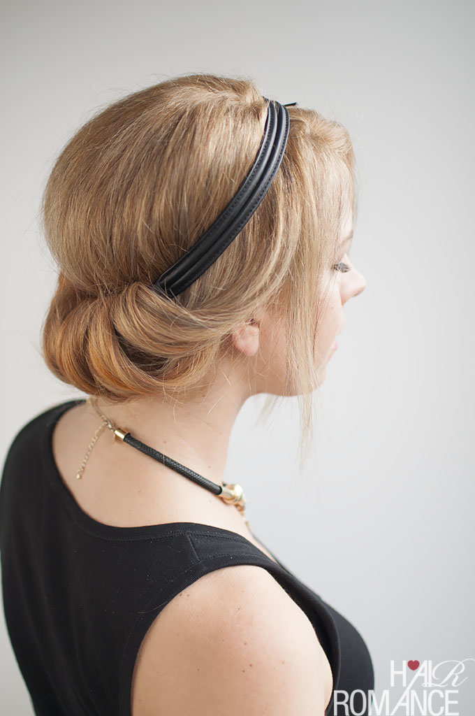 Hair Romance - how to wear your hair to a wedding - rolled updo hairstyle tutorial