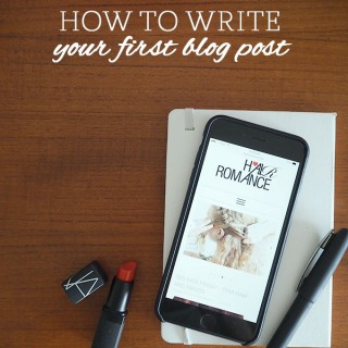 Beauty Blog School – How to write your first blog post