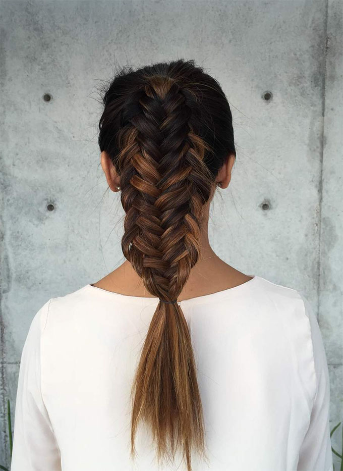 Twisted fishtail braid by Confessions of a Hairstylist