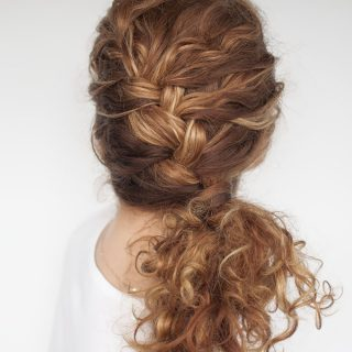 Easy everyday curly hairstyle tutorials – the curly side braid