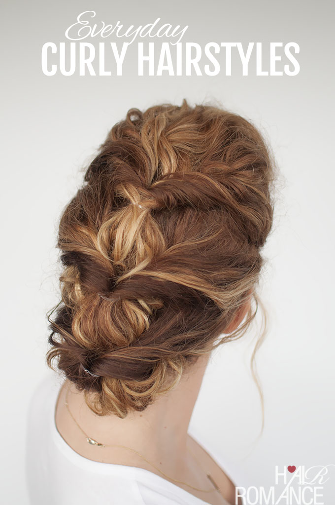 Hair Romance - Everyday curly hairstyles - twisted updo
