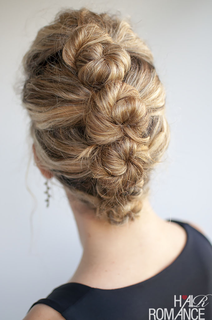 Hair Romance - top curly hairstyle tutorials - French twist and pin updo
