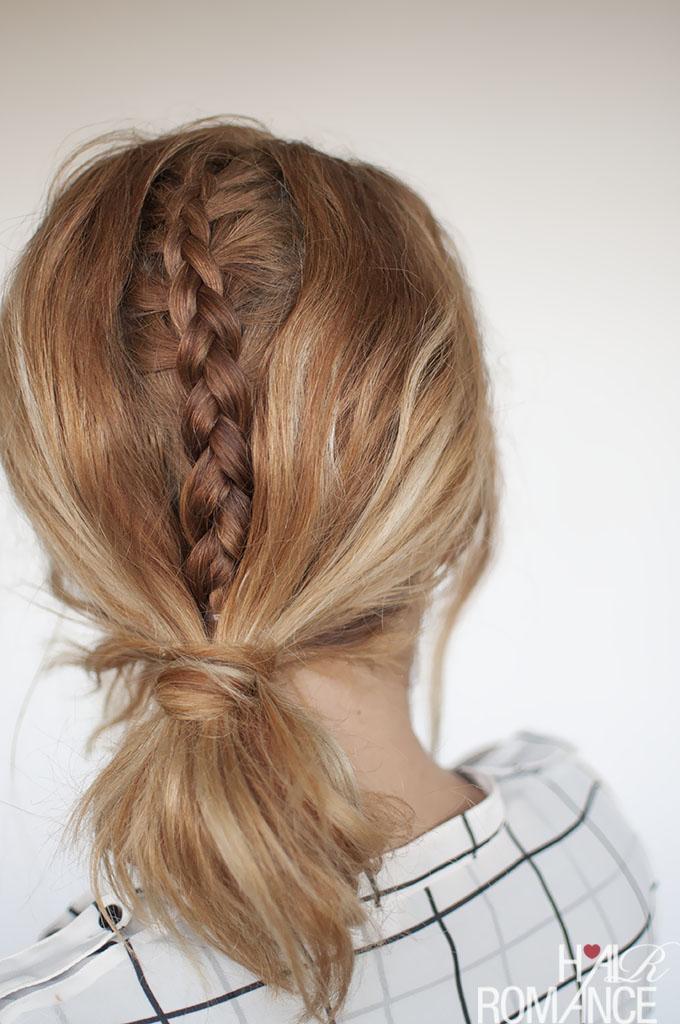 Hair Romance - Fashion Week Braids - hidden braid tutorial 1