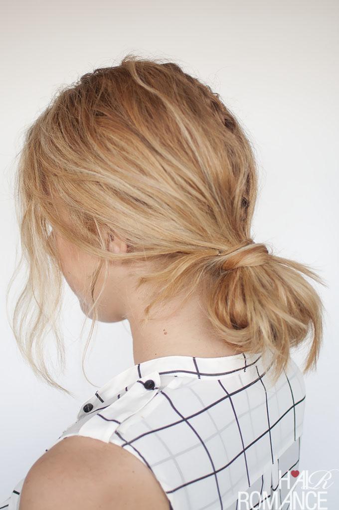 Hair Romance - Fashion Week Braids - hidden braid tutorial 2