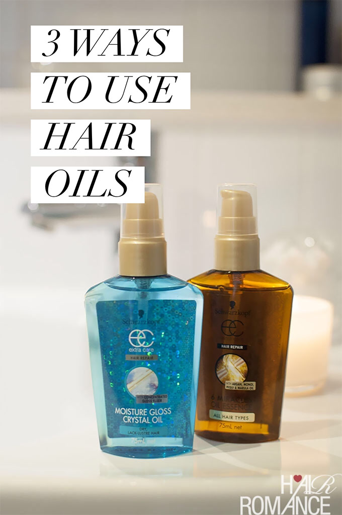 Hair Romance - Hair Happiness Challenge - 3 ways to use oils and serums