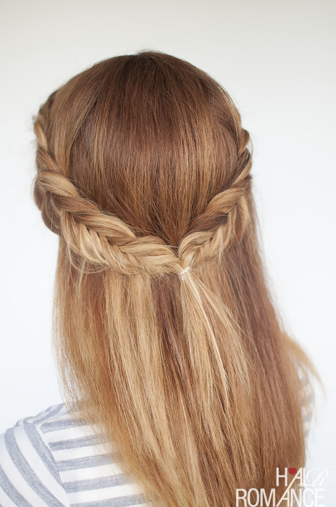 Fishtail braid hair tutorial once wed.