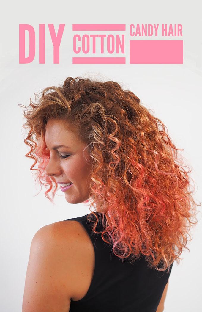 Hair Romance - How to DIY home hair colour - cotton candy hair