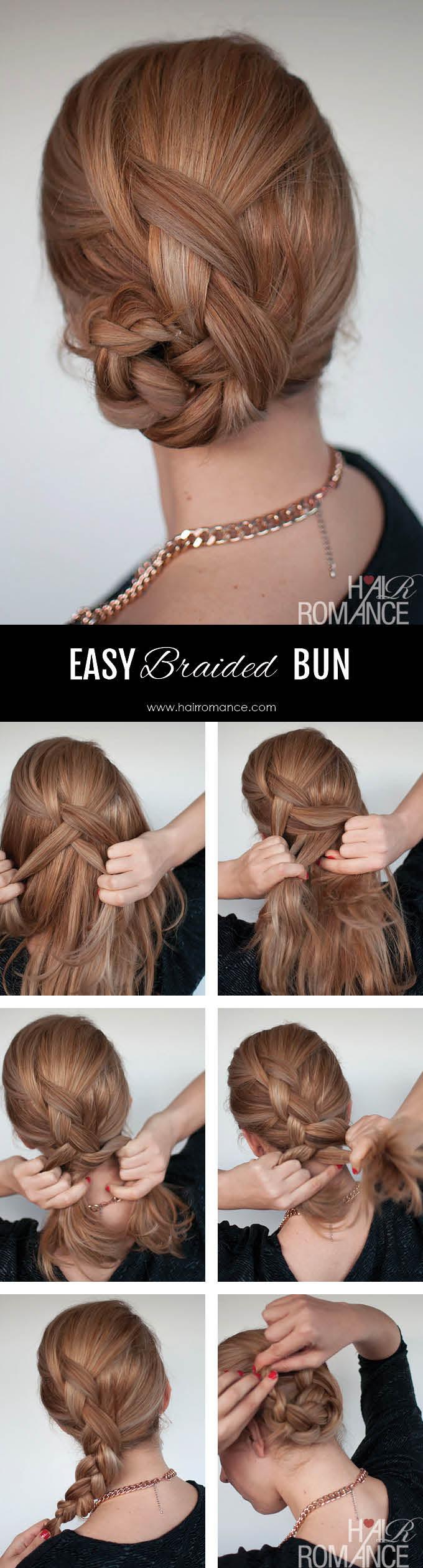 Hair Romance - Easy braided bun hairstyle tutorial