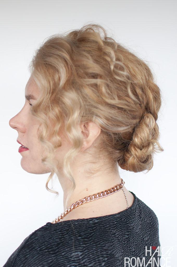 Hair Romance - Easy curly braided bun hairstyle tutorial