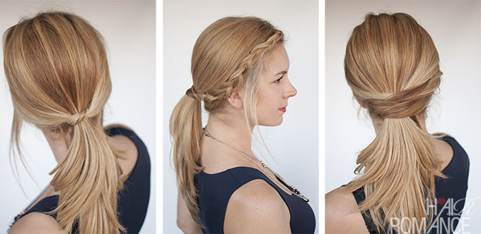Hair Romance - 3 chic and easy ponytail hairstyle tutorials
