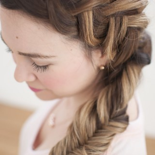 Dream hair – Combo Dutch – fishtail side braid tutorial