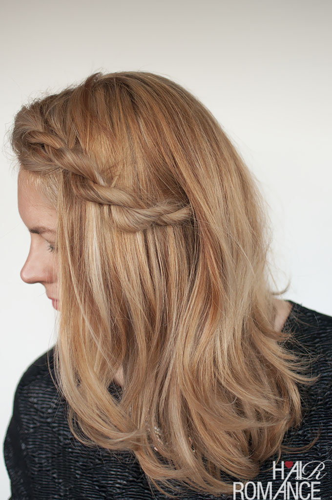 Hair Romance - Fix your frizzy fringe with this rope braid tutorial