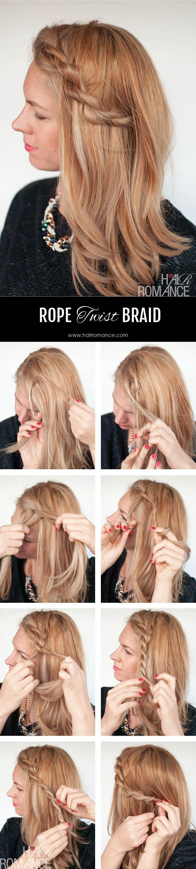 Twisted rihanna-inspired rope braid tutorial