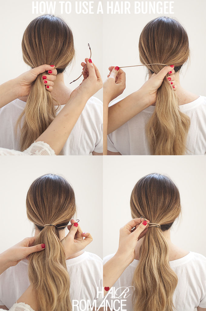 Perfect Ponytails – how to use a hair bungee and hide your hair ... fb68520c8f7