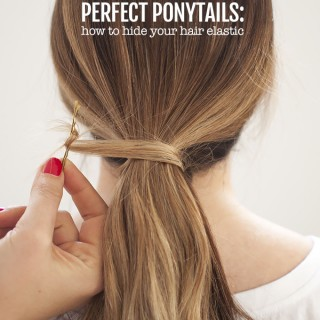 Perfect Ponytails – how to use a hair bungee and hide your hair elastic