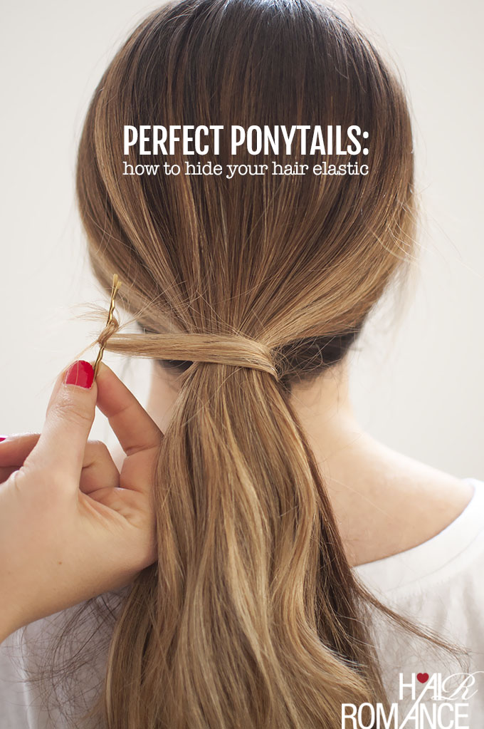 Hair Romance - Perfect Ponytails - how to hide your hair elastic