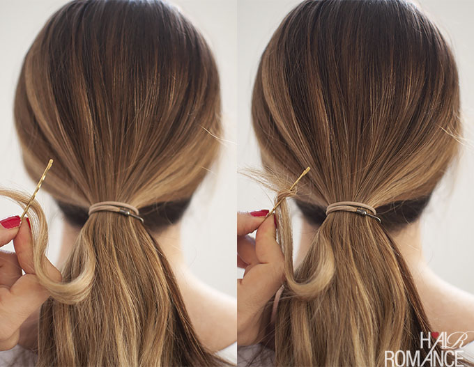 Hair Romance - Perfect Ponytails - how to pin your hair