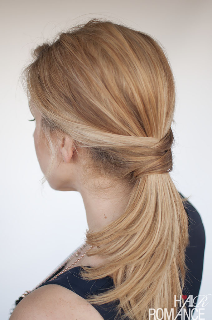 Hair Romance - The chic twisted ponytail