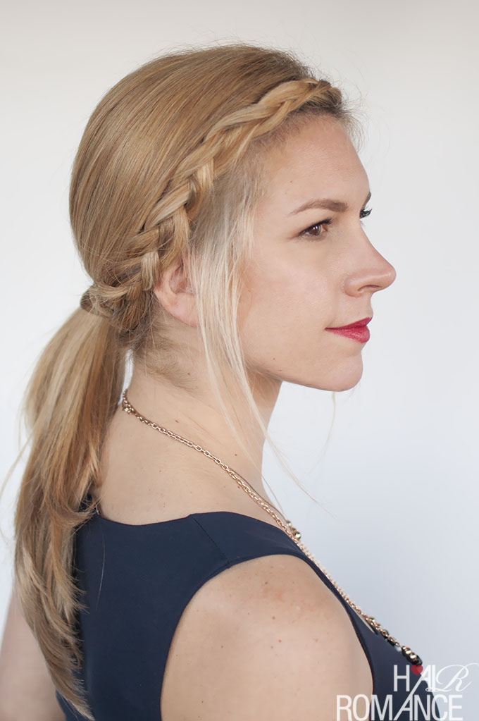 Hair Romance - The sleek braided ponytail