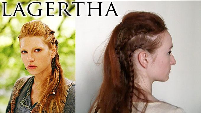 Vikings hairstyle tutorials - Lagertha's braid tutorial