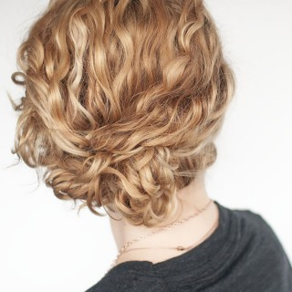Super easy updo hairstyle tutorial for curly hair
