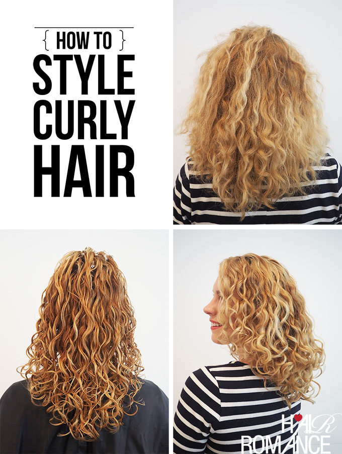 How To Style Curly Hair For Frizz Free Curls Video Tutorial Hair Romance