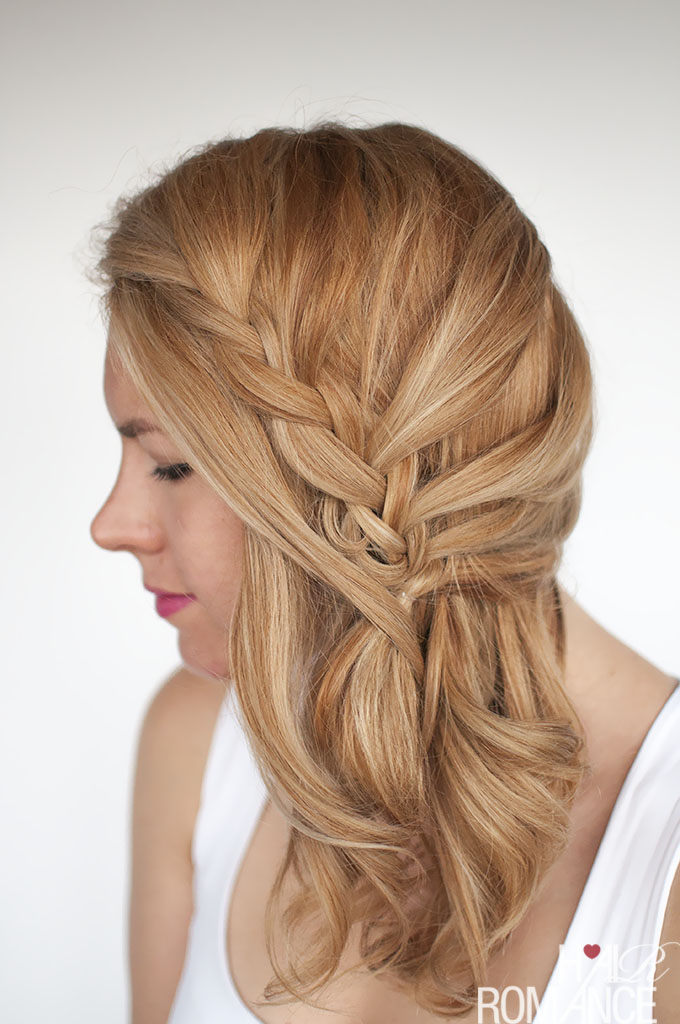 Easy Lace Braid The Side Swept Hairstyle Tutorial Hair Romance