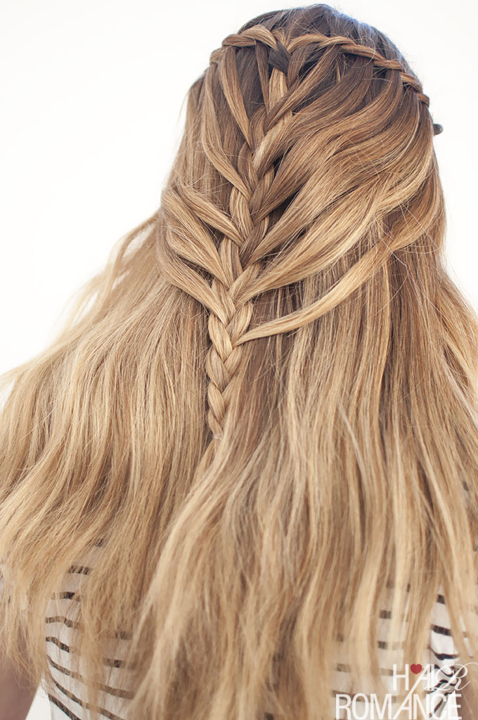 Waterfall Mermaid Braid Tutorial For Long Hair Hair Romance