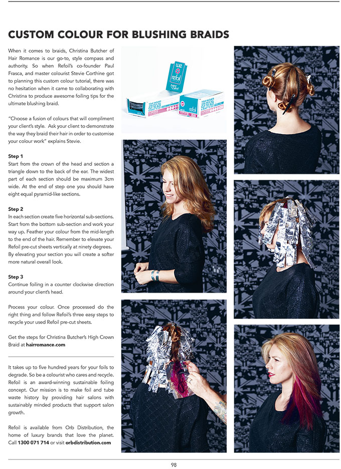 How to foil pink hair