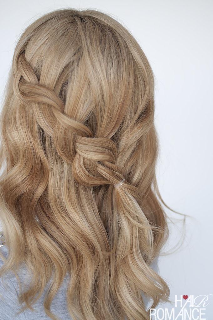 Hair Romance - Simple half-up braid tutorial