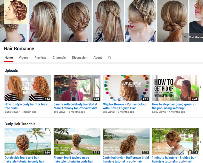 Hair Romance TV - youtube channel