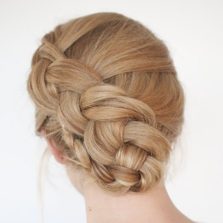New braid hairstyle tutorial – the twist braid updo
