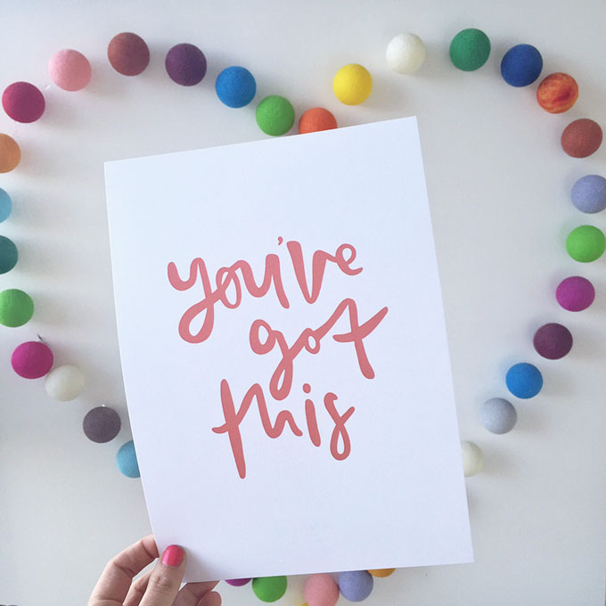 Win an exclusive Emma Kate Co x Little Blog Big Print - You've Got This