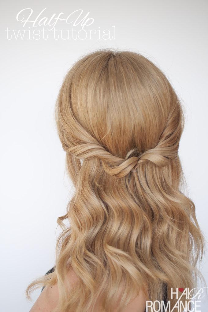 Hair Romance - Easy half up twist tutorial 2