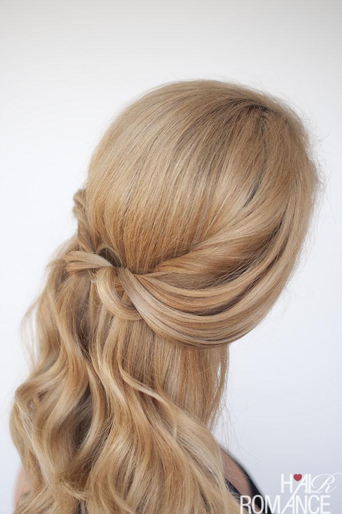 Easy half,up twist hairstyle tutorial , Hair Romance