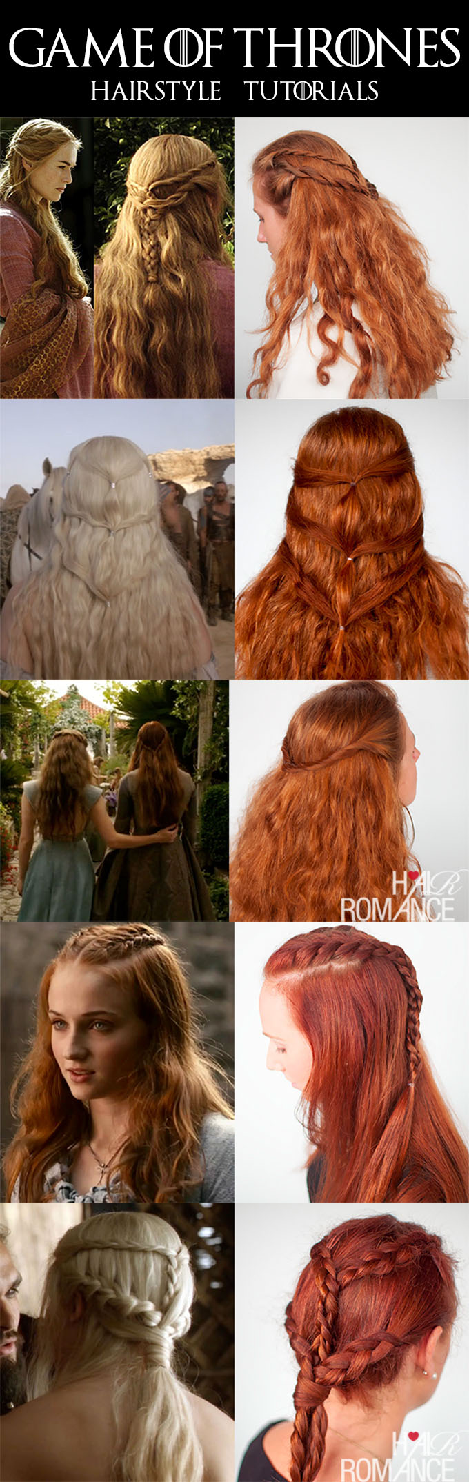 Hair Romance - Halloween hairstyles - Game of Thrones Hair tutorials