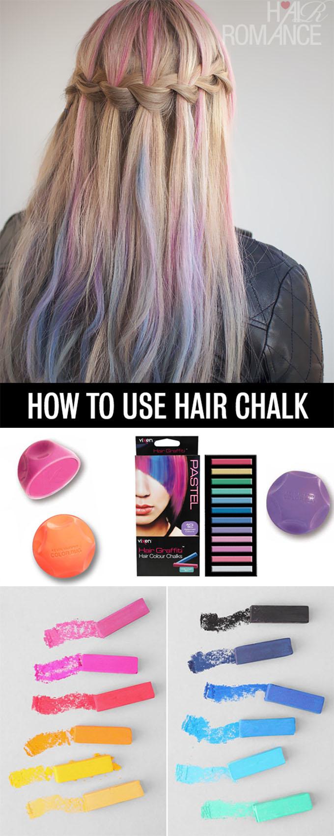 Hair Romance halloween hair - How to use hair chalk