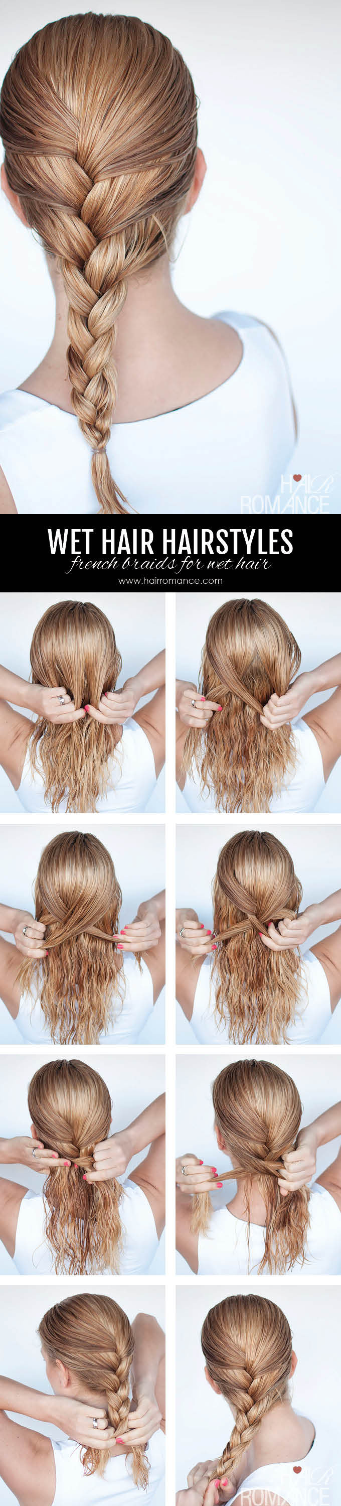 Hairstyles for wet hair: 12 simple braid tutorials you can wear in