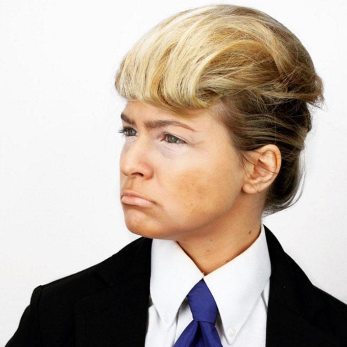 Halloween hairstyles - Donald Trump hair tutorial by Kayley Melissa
