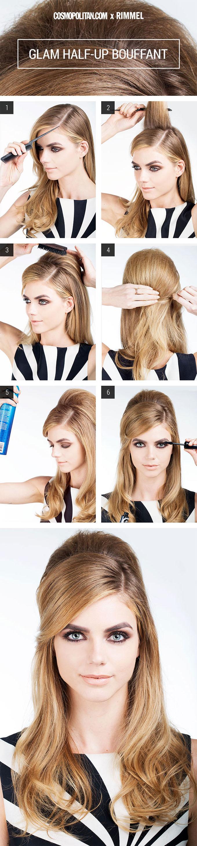 Halloween hairstyles - retro bouffant hair tutorial