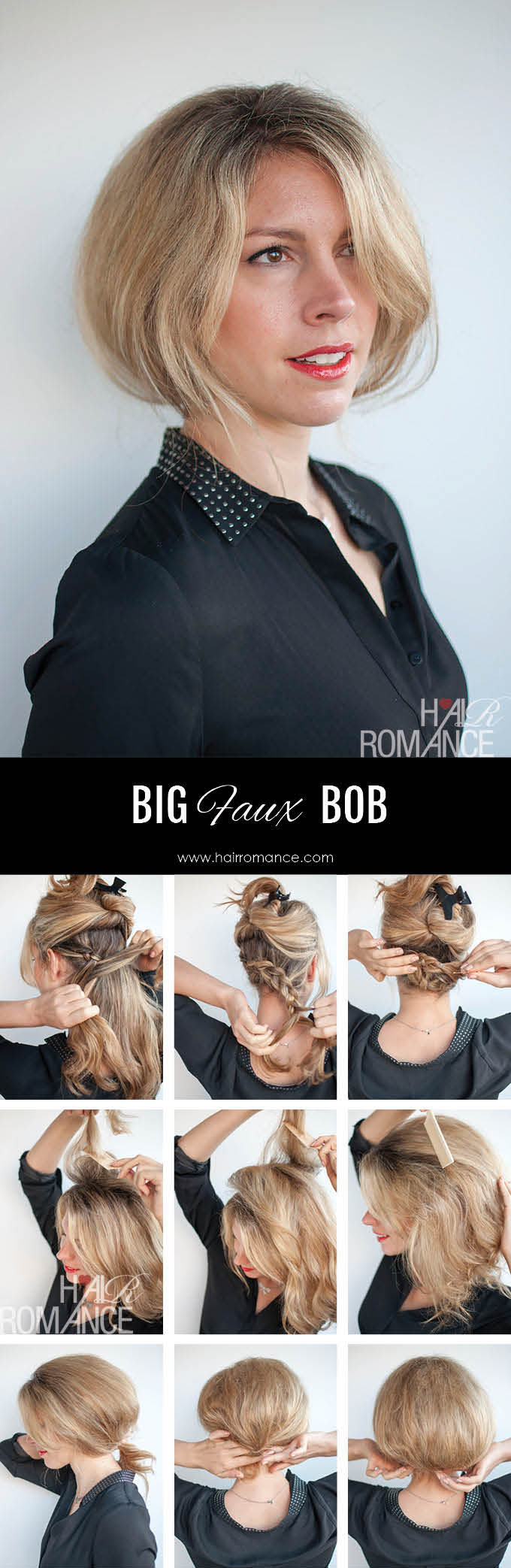 Hair Romance - Big faux bob hairstyle tutorial