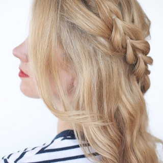The half-up braid (that's not really a braid)