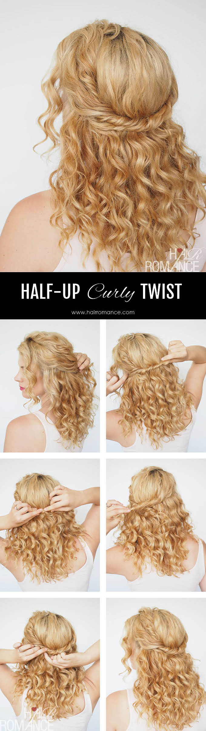 Hair Romance - chic and simple half up twist tutorial