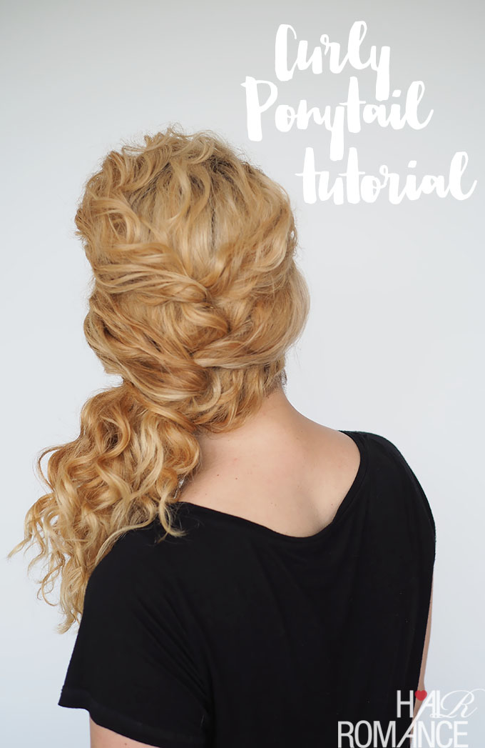 Hair Romance - easy ponytail curly hair tutorial