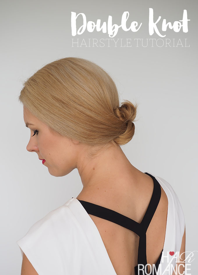easy hairstyle tutorial - the double knot bun by Hair Romance
