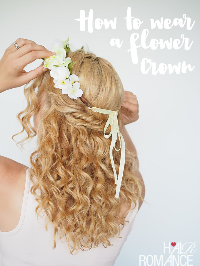 easy flower crown tutorial